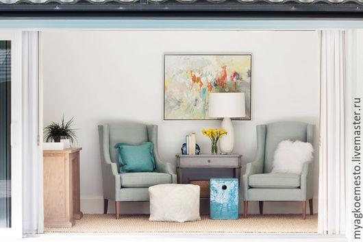 """Мебель ручной работы. Ярмарка Мастеров - ручная работа. Купить Кресло """"Франт"""". Handmade. Голубой, французский стиль, кресло с ушами"""