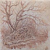 Камины ручной работы. Ярмарка Мастеров - ручная работа Плитка с пейзажами. Handmade.