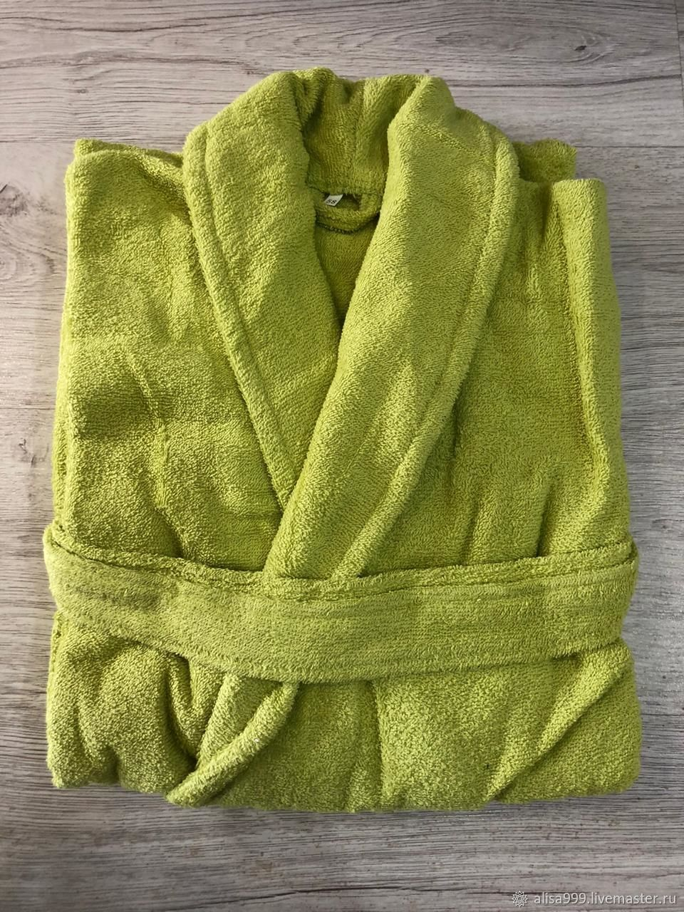 Green Terry dressing gown, Robes, Moscow,  Фото №1