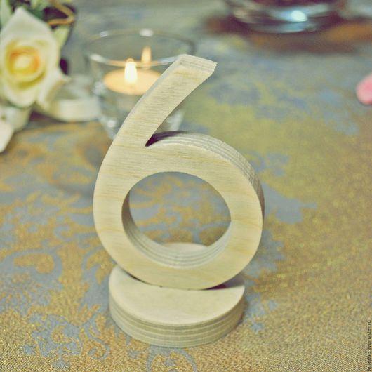 Интерьерные слова ручной работы. Ярмарка Мастеров - ручная работа. Купить Цифры для Свадебного Стола 10см Неокрашенные. Handmade.