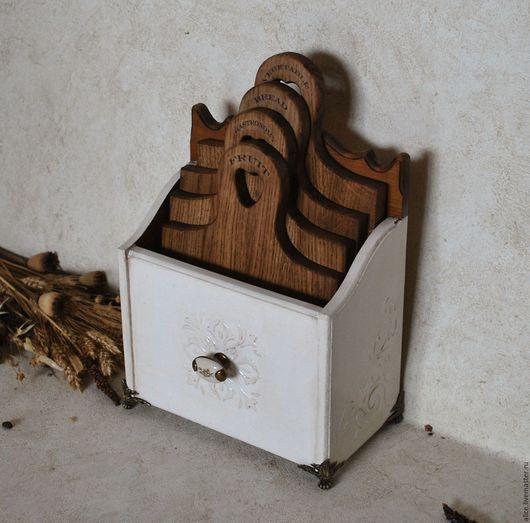 Кухня ручной работы. Ярмарка Мастеров - ручная работа. Купить Набор досок в подставке. Handmade. Белый, доска из дерева