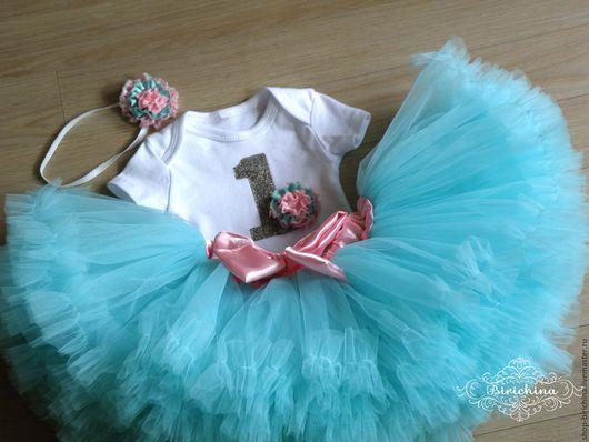 Одежда для девочек, ручной работы. Ярмарка Мастеров - ручная работа. Купить Комплект на празднование первого дня рождения принцессы. Handmade.