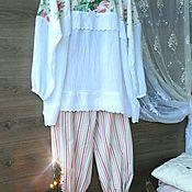 Одежда handmade. Livemaster - original item Pajamas in the style of Shabby. LARGE size.. Handmade.