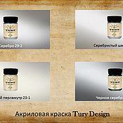 Материалы для творчества handmade. Livemaster - original item Acrylic paint METALLICS TURY Design Di-7 60gr. Handmade.
