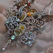 handmade. Livemaster - original item Royal Garden necklace online-course. Handmade.
