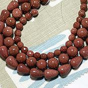 Бусины ручной работы. Ярмарка Мастеров - ручная работа Авантюрин коричневый,бусины. Handmade.