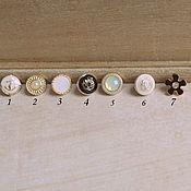 Материалы для творчества ручной работы. Ярмарка Мастеров - ручная работа Винтажные пуговицы 1,1 см. Handmade.