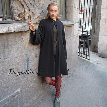 Одежда ручной работы. Ярмарка Мастеров - ручная работа Мантия из черного футера расклешенного кроя. Handmade.