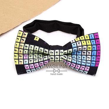 Accessories handmade. Livemaster - original item Periodic table bow tie, chemistry bow tie. Handmade.