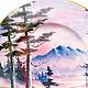 Декоративная посуда ручной работы. Тарелка декоративная Сиреневый лес. Оза (decor33). Интернет-магазин Ярмарка Мастеров. Тарелка, керамика