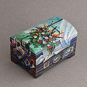 Для дома и интерьера ручной работы. Ярмарка Мастеров - ручная работа деревянная шкатулка,,роспись мебели,шкатулка с росписью. Handmade.
