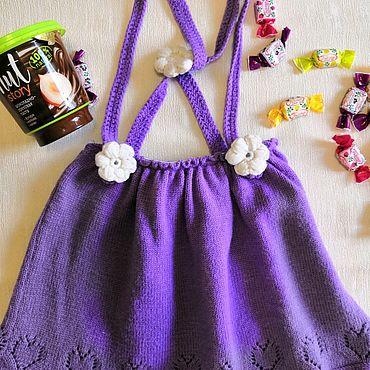 Одежда ручной работы. Ярмарка Мастеров - ручная работа Юбка вязаная для девочки. Handmade.