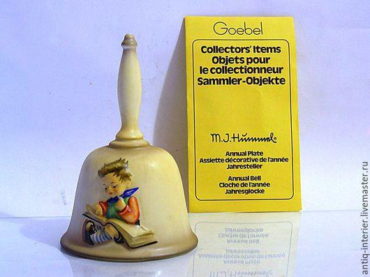 Винтажные предметы интерьера. Ярмарка Мастеров - ручная работа. Купить Колокольчик коллекционный Hummel Goebel. Handmade. Разноцветный, hummel