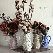 Для дома и интерьера ручной работы. Ярмарка Мастеров - ручная работа Пупырчатые керамические кувшины. Handmade.