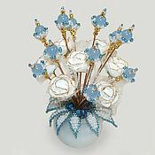 handmade. Livemaster - original item Flowers from Topaz