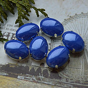 Материалы для творчества handmade. Livemaster - original item Pearl rhinestones Persian blue 13h18 mm oval. Handmade.