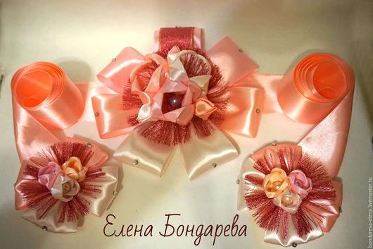 Для новорожденных, ручной работы. Ярмарка Мастеров - ручная работа. Купить Бант на выписку из роддома для девочки. Handmade. Розовый