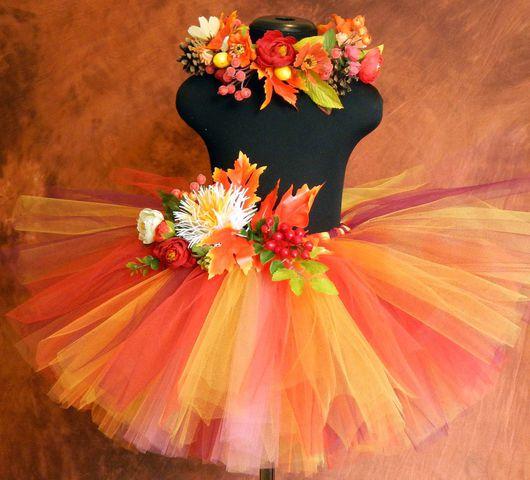 Детские карнавальные костюмы ручной работы. Ярмарка Мастеров - ручная работа. Купить комплект Осень. Handmade. Рыжий, праздник осенний