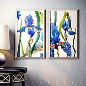 Картины и панно handmade. Livemaster - original item Diptych watercolor