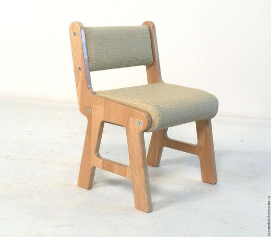Детская ручной работы. Ярмарка Мастеров - ручная работа. Купить Стульчик детский мягкий. Handmade. Бежевый, стул из дерева