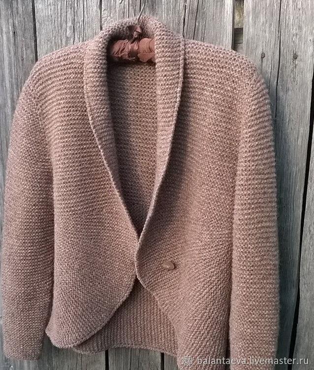Jacket knitted double-sided Nutmeg from lamb wool, Suit Jackets, Kazan,  Фото №1