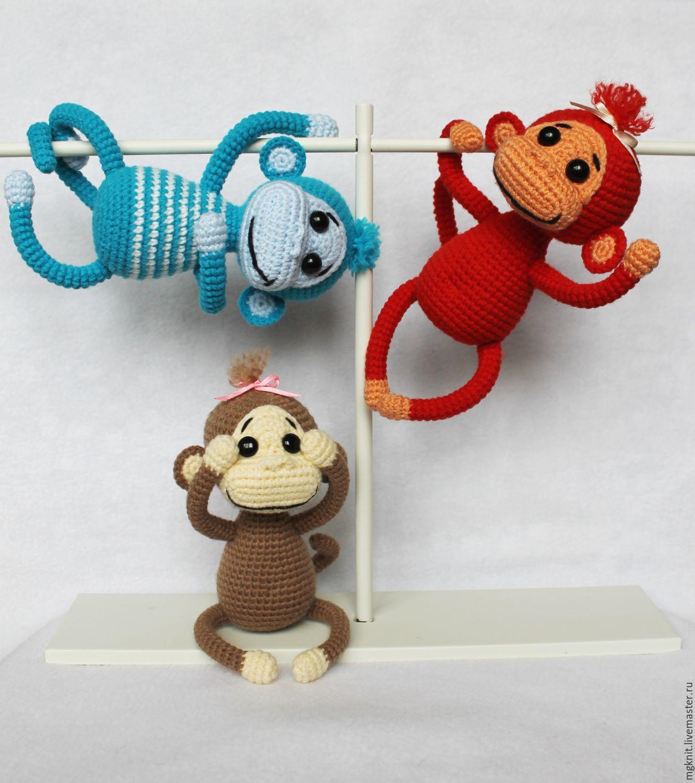 Связать обезьяну символ 2018 года своими руками
