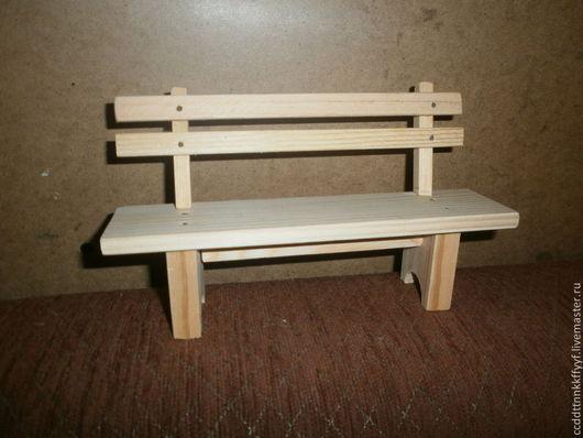 Миниатюра ручной работы. Ярмарка Мастеров - ручная работа. Купить скамейка деревянная. Handmade. Белый, деревянная скамейка, деревянная миниатюра