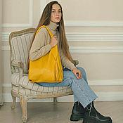 Сумки и аксессуары handmade. Livemaster - original item Bag Bag Leather Yellow Bag Package Hobo Shopper. Handmade.