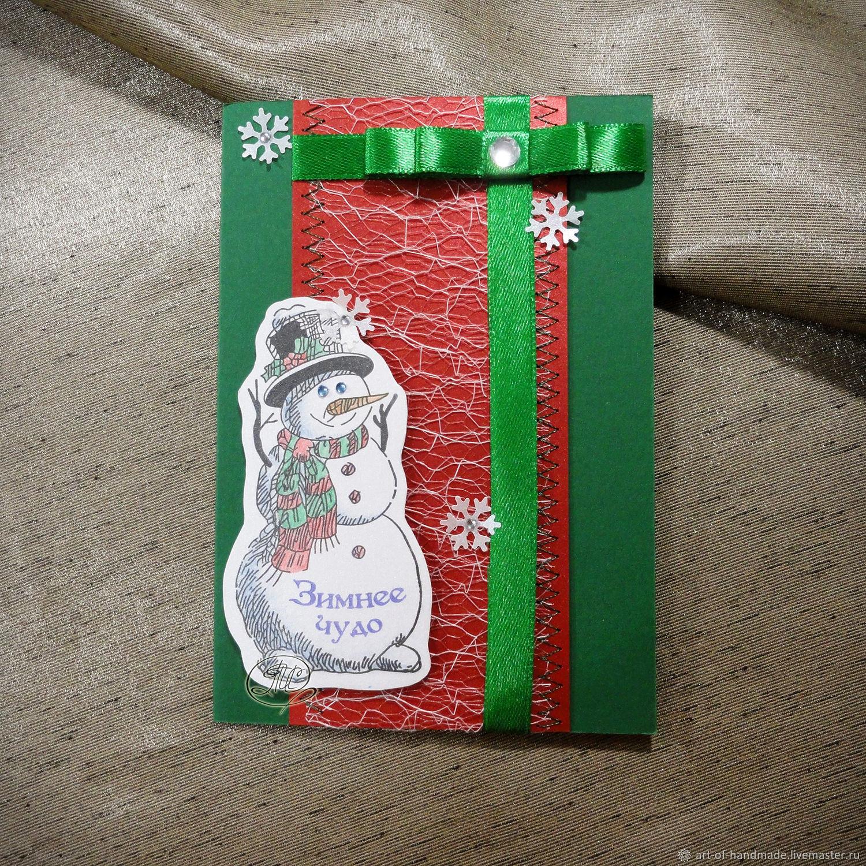 Новогодняя открытка со снеговиков, Открытки, Екатеринбург,  Фото №1