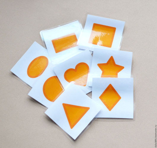 """Развивающие игрушки ручной работы. Ярмарка Мастеров - ручная работа. Купить ЛАМИНИРОВАННЫЕ карточки """"цвета и формы"""" (96 каточек). Handmade."""