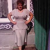 """Одежда ручной работы. Ярмарка Мастеров - ручная работа Комплект блуза """"АСИММЕТРИЯ"""" и расклешенная юбка.. Handmade."""