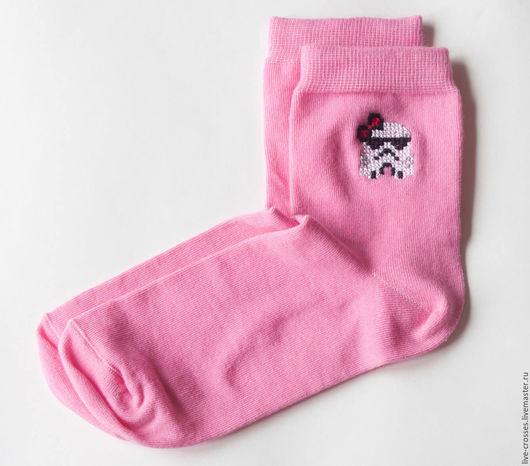 Носки, Чулки ручной работы. Ярмарка Мастеров - ручная работа. Купить Носки с ручной вышивкой крестиком. Handmade. Рисунок