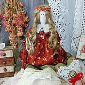 Куклы и игрушки ручной работы. Ярмарка Мастеров - ручная работа Дениз-текстильная,интерьерная кукла-тильда.. Handmade.