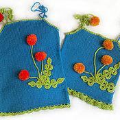 Одежда ручной работы. Ярмарка Мастеров - ручная работа Топик с одуванчиками... Handmade.