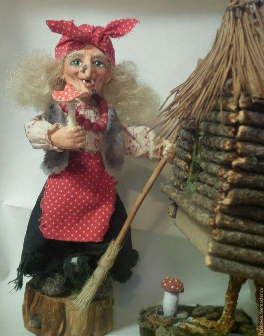 Сказочные персонажи ручной работы. Ярмарка Мастеров - ручная работа. Купить Баба яга. Handmade. Разноцветный, баба яга, оберег