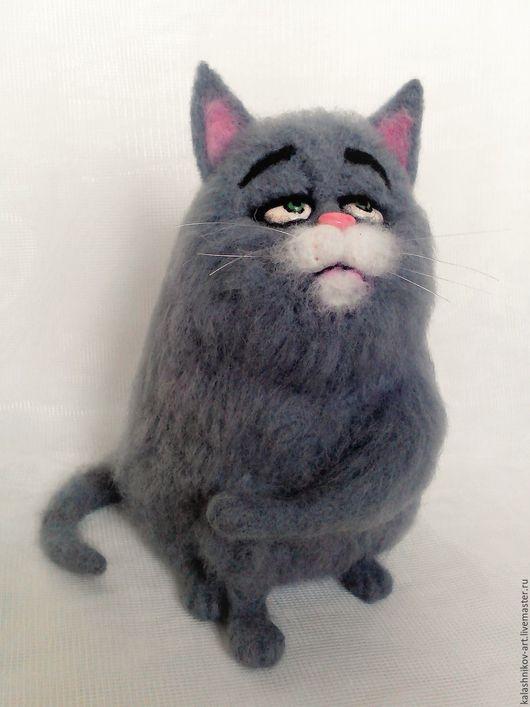 """Игрушки животные, ручной работы. Ярмарка Мастеров - ручная работа. Купить Кошка """"Хлоя"""" из мультфильма. Handmade. Серый, герои из мультфильмов"""