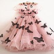 Одежда handmade. Livemaster - original item Exclusive dress with butterflies. Handmade.