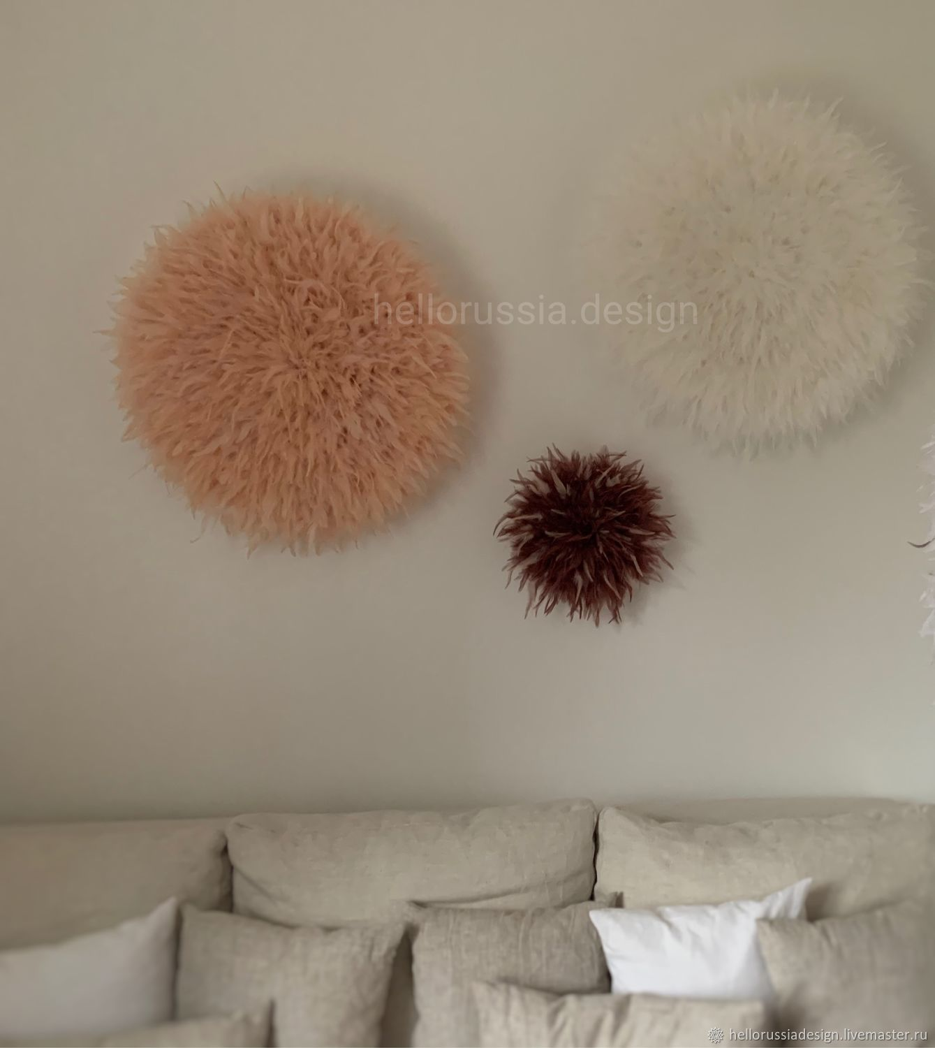 Ju-ju hat feather decor, Interior elements, Moscow,  Фото №1