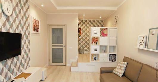 Реализованный проект однокомнатной квартиры в Химках.