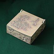 Для дома и интерьера handmade. Livemaster - original item Trinket box Hummingbird and the Rose. Handmade.