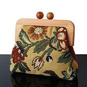 Сумки и аксессуары handmade. Livemaster - original item Handbag with embroidery on wooden clasp with strap. Handmade.