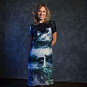 Одежда ручной работы. Ярмарка Мастеров - ручная работа Пейзаж на Морскую Тему (платье). Handmade.