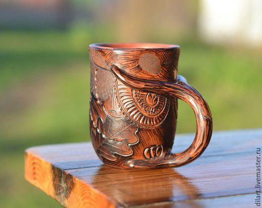 Кружки и чашки ручной работы. Ярмарка Мастеров - ручная работа. Купить Подарочная Кружка Сова подарок мужчине. Handmade.