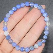 Украшения handmade. Livemaster - original item Bracelet made of natural agate (sapphirine) with a cut. Handmade.