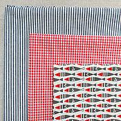 Материалы для творчества ручной работы. Ярмарка Мастеров - ручная работа Корейский хлопок ткани-компаньоны Рыбы-6. Handmade.