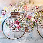 Картины и панно handmade. Livemaster - original item The flowers and the wings of spring painting on canvas. Handmade.