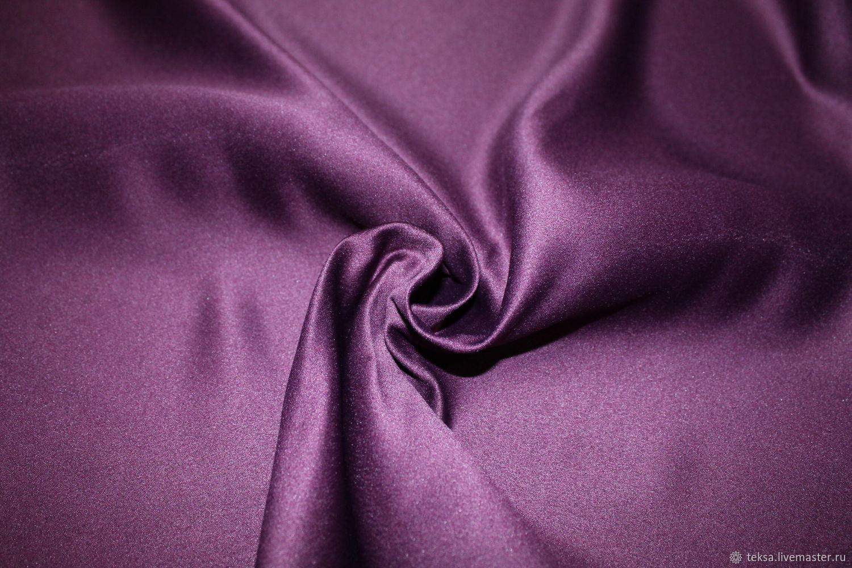 Атлас матовый прокатный цвет № 49 сливовый, Ткани, Видное,  Фото №1