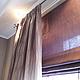 Текстиль, ковры ручной работы. Ярмарка Мастеров - ручная работа. Купить Сиреневые шторы. Handmade. Сиреневый, ткань, кант