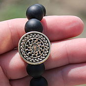 Украшения handmade. Livemaster - original item Men`s bracelet - Black Sun. Handmade.