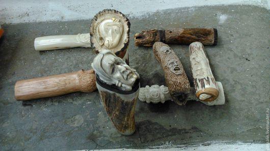 """Оружие ручной работы. Ярмарка Мастеров - ручная работа. Купить Рукоять для ножа """"Индеец"""". Handmade. Комбинированный, рог"""